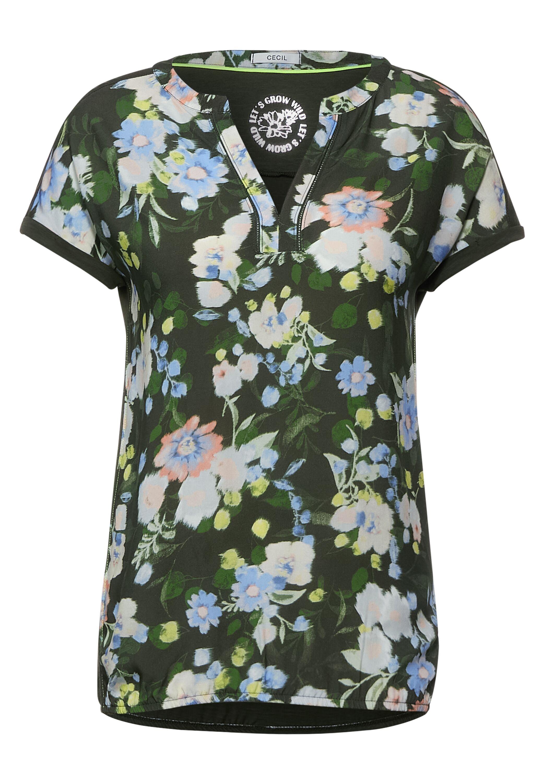 T-Shirt mit Blumen Print