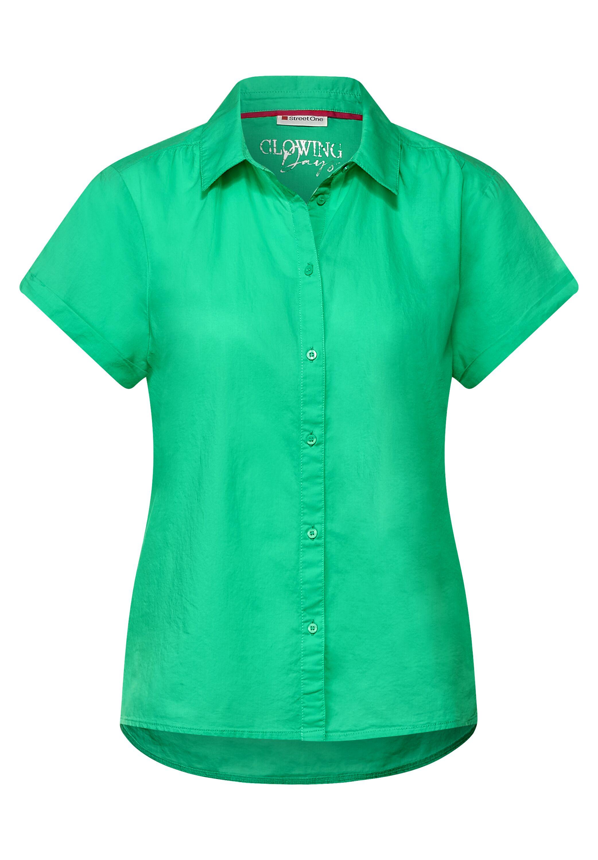 Bluse mit Hemdkragen