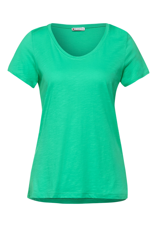 QR new Gerda Basic T-Shirt in Unifarbe