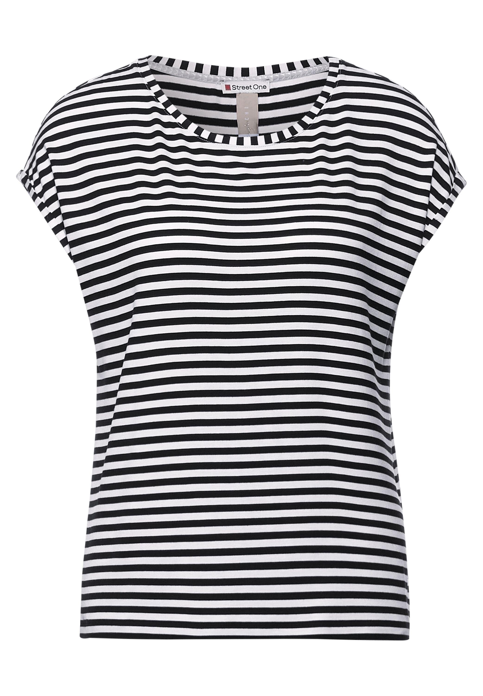 QR new Style Crista T-Shirt mit Streifen Muster
