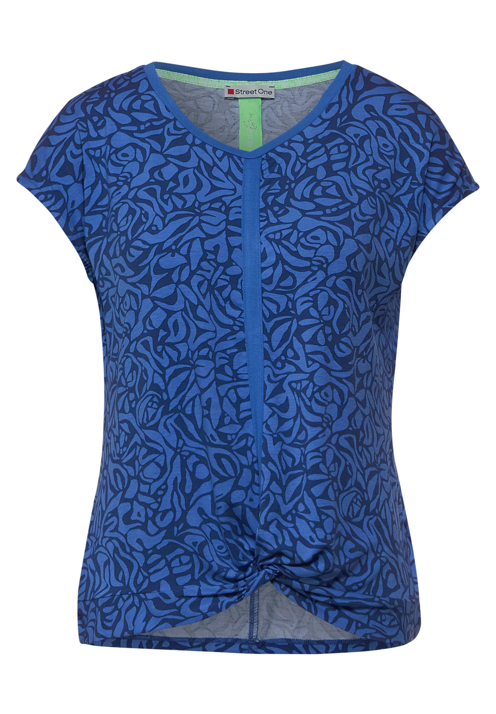 LTD QR printed shirt w.knot